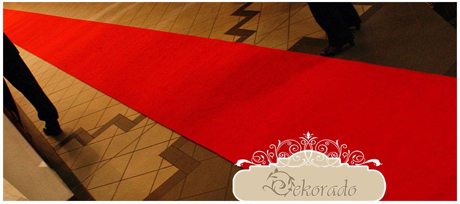 Czerwony dywan - 2 x 25 metrów