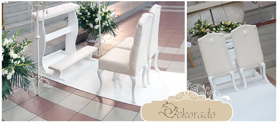 Zestaw idealny z białym dywanem
