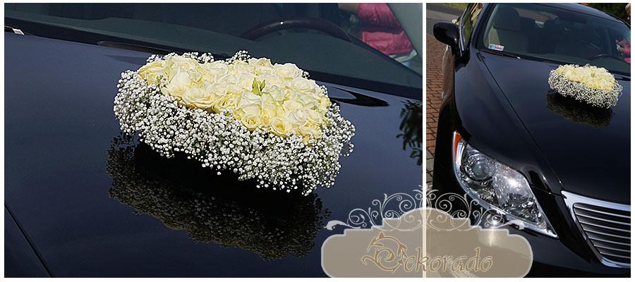Udekorowany samochód ślubny - Rybnik