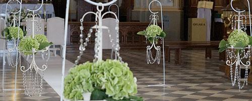Dekoracje ślubne I Weselne Oświęcim Sala Auto Kościół