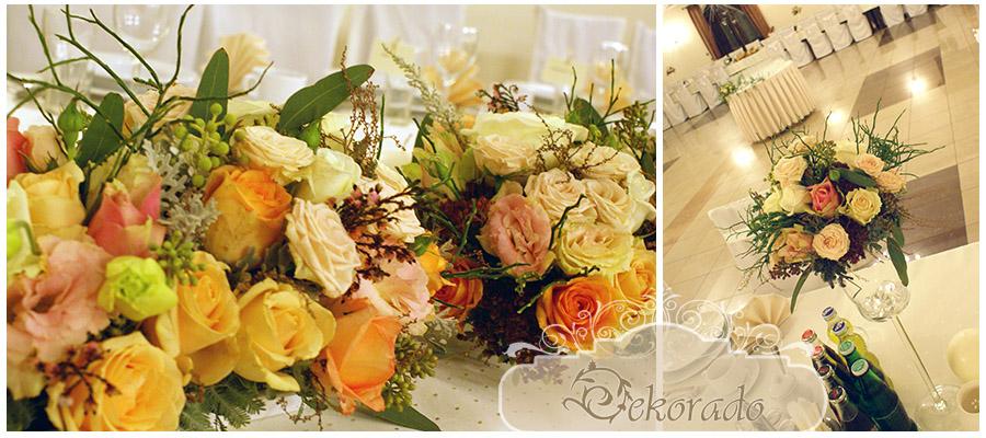 dekoracja sali weselnej - Wodzislaw slaski2