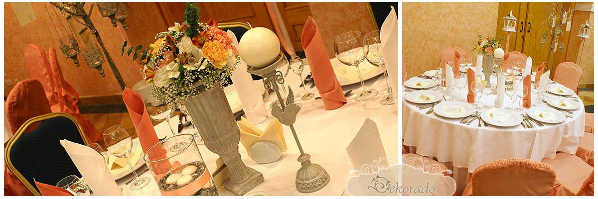 dekoracja stołów weselnych - Bielsko-Biała