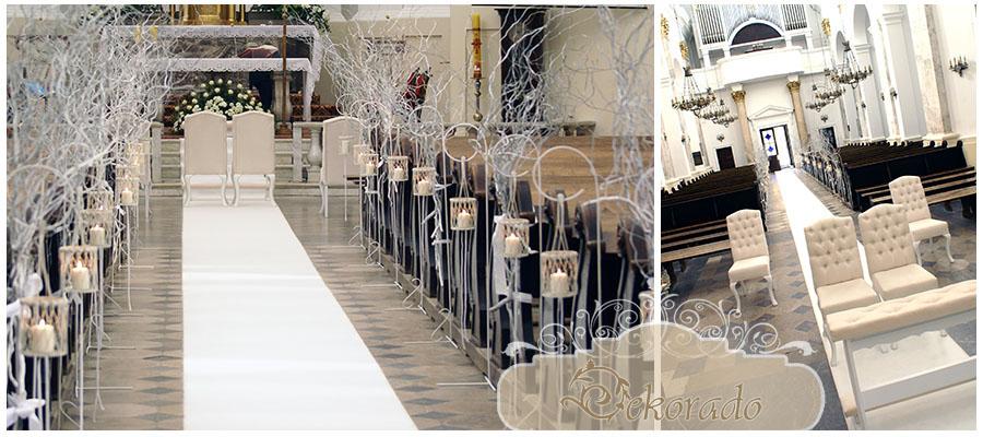 Gliwice Dekoracje ślubne Samochodu Kościoła Sali