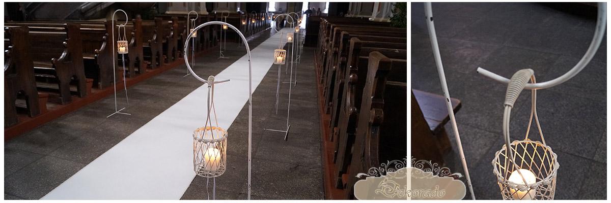 stojaki - dekoracja kosciola