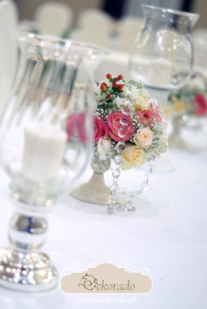 Dekoracja sali weselnej w Bielsku-Białej