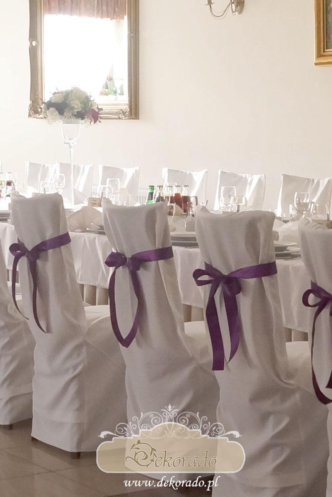 Wynajem pokrowców na krzesła - sala weselna