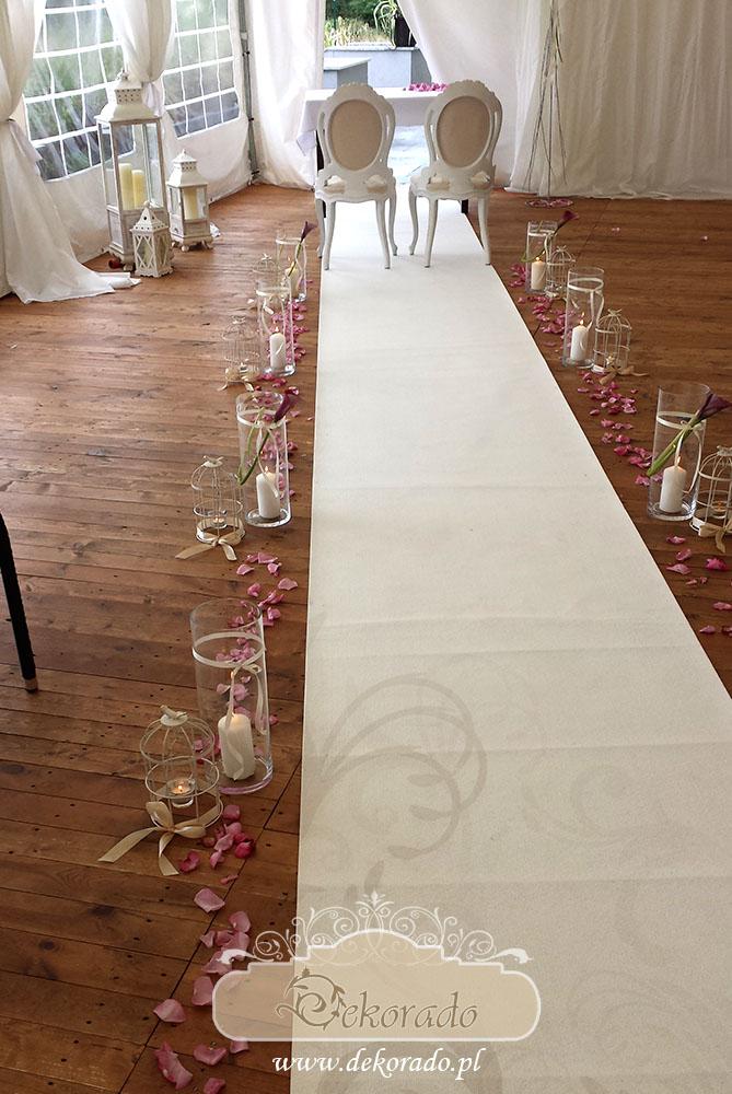 Dekoracja pleneru - ślub w Raciborzu