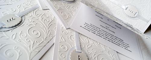 Zaproszenia ślubne i weselne - Gliwice