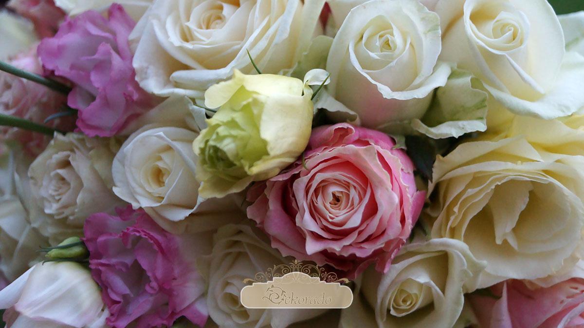 Kwiaty na stoły weselne - Skoczów